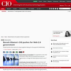 Barack Obama's CIO pushes for Web 2.0 government