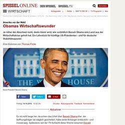 USA: Wie Barack Obama das Land aus der Wirtschaftskrise geholt hat