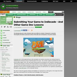 Tanal Barakat's Blog - Submitting Your Game to Indiecade - And Other Game Dev Lessons