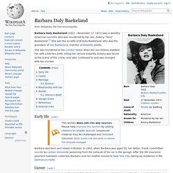 Barbara Daly Baekeland - Wikipedia