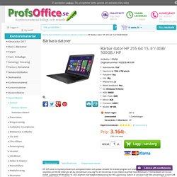 """Datortillbehör - Bärbar dator HP 255 G4 15,6""""/4GB/500GB"""