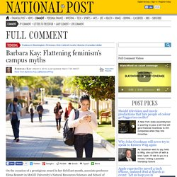 Barbara Kay: Flattening feminism's campus myths