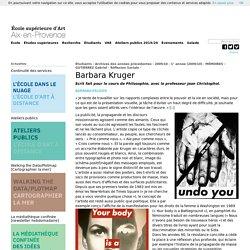 Barbara Kruger - Réflexion Sociale