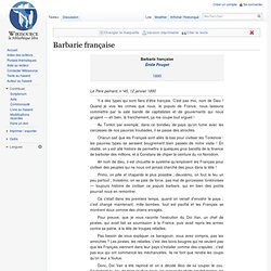 Barbarie française