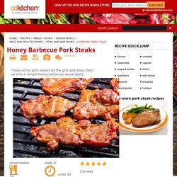 Honey Barbecue Pork Steaks Recipe from CDKitchen