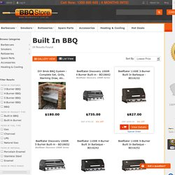 Barbecues BBQ Type Built In BBQ