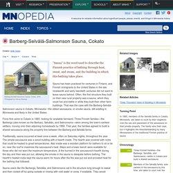 Barberg-Selvälä-Salmonson Sauna, Cokato