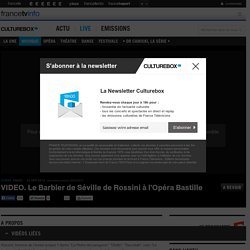 VIDEO. Le Barbier de Séville de Rossini à l'Opéra Bastille