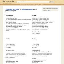 Il barbiere di Siviglia libretto (Italian/English) - opera by Gioachino Rossini