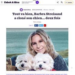 Tout va bien, Barbra Streisand vient de cloner son chien...deux fois