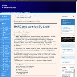 BARCamp dans les BU Lyon1 - Lyon Communiqués