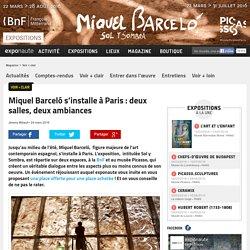 Miquel Barceló s'installe à Paris : deux salles, deux ambiances