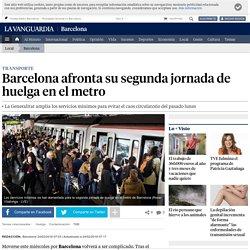 Barcelona afronta su segunda jornada de huelga en el metro
