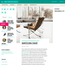 Collection of Barcelona Chair