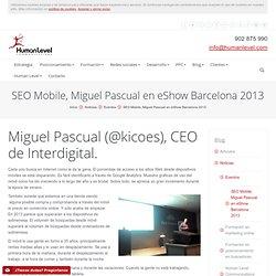 SEO Mobile, Miguel Pascual en eShow Barcelona 2013