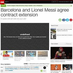 Barcelona and Lionel Messi agree contract extension