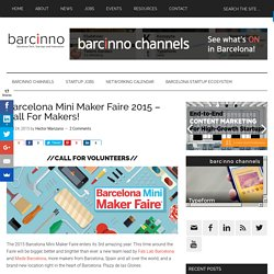 This webpage is from Barcelona Mini Maker Faire in 2015