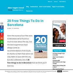 20 Free Things To Do in Barcelona