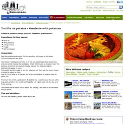 Barcelona.de - Recipe of tortilla de patatas, an omelette with potatoes