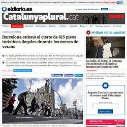 Barcelona ordenó el cierre de 615 pisos turísticos ilegales durante los meses de verano