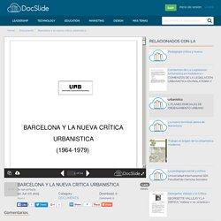 Barcelona y la nueva critica urbanistica - Documents