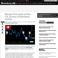 Barclays Fine Leads to New U.K. Scrutiny of Derivatives Conflict