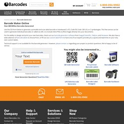 Free Online Barcode Generator: Make a Custom Barcode in Seconds