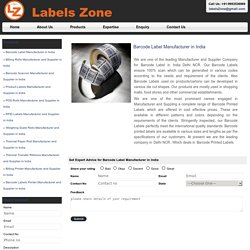 Labels Zone- for the best barcode labels
