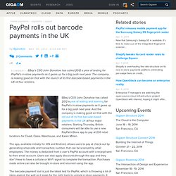 PayPal rolls out barcode payments in the UK