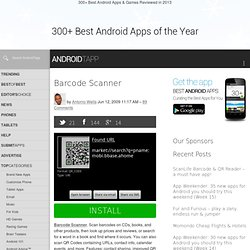 Barcode Scanner Android App Review by AndroidTapp.com