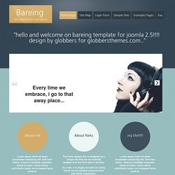 Bareing black template - free joomla templates
