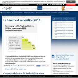 Barème Impots 2016