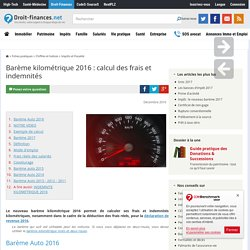 Barème kilométrique 2016 : calcul des frais et indemnités