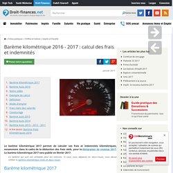 Barème kilométrique 2016 - 2017 : calcul des frais et indemnités