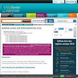 Barème saisie rémunération salaire 2016 2015 2014 2013 2012 2011