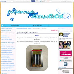 Eyeliners lasting line de bareMinérals - Confidences de MamselleCat