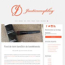 Fond de teint bareSkin de bareMinerals - justinmyblog