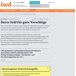 Bares Geld für gute Vorschläge - iwd.de