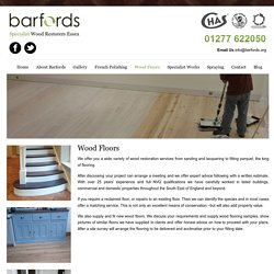 Hardwood and Wooden Flooring Restoration service in Essex, Billericay and London, UK