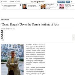 'Grand Bargain' Saves the Detroit Institute of Arts