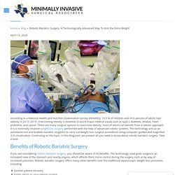Robotic Bariatric Surgery: A Technologically Advanced Way To Kick the Extra Weight