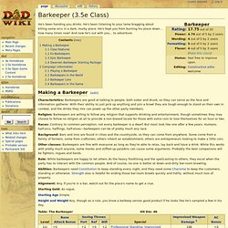 Barkeeper (3.5e Class