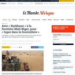 Avec «Barkhane» à la frontière Mali-Niger, pour «taper dans la fourmilière»