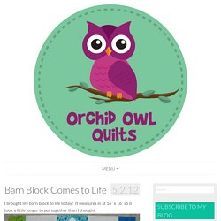 Barn Block Comes to Life - Orchid Owl Quilts