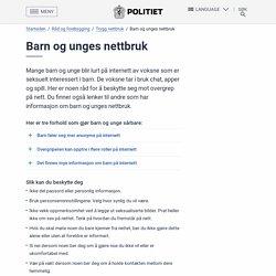 Barn og unges nettbruk – Politiet.no