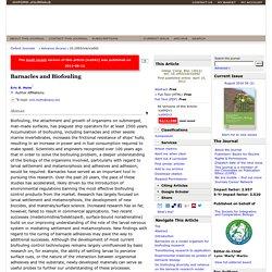 Barnacles and Biofouling