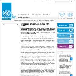 Ny rapport om barnäktenskap från UNFPA