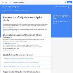 Blockera barnförbjudet innehåll på en skola - Googles webbsökning Hjälp