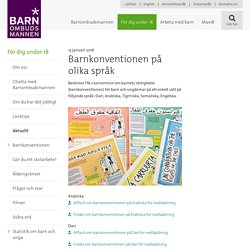 Barnkonventionen på olika språk - Barnombudsmannen