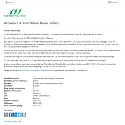 Barnpassare till Nordic Wellness Region Göteborg